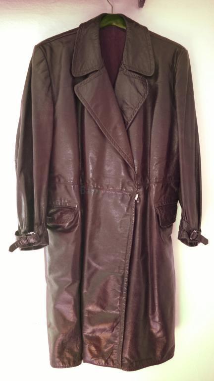 Prodám Orig. kožený kabát 50.léta - 4 800 a5a20505e4