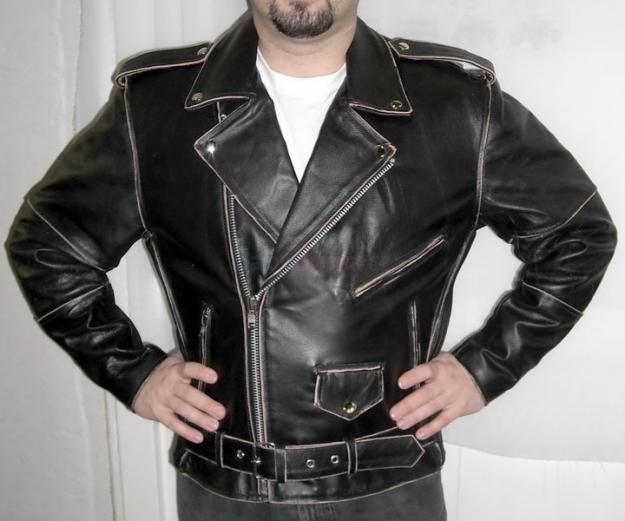 Kožený křivák Antik - kožená bunda na chopper kvalitní kožený křivák ve  stylu Antik 9294c5e232