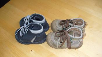 první dětské botičky