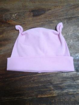 růžová bavlněná čepička