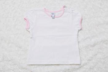 bavlněné tričko s obrubou
