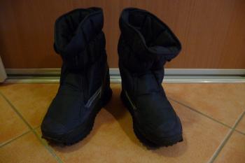 Zimní boty s kožíškem, tm.modré, vel. 27