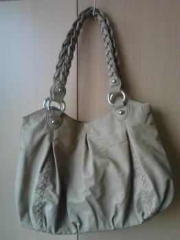Béžová koženková kabelka