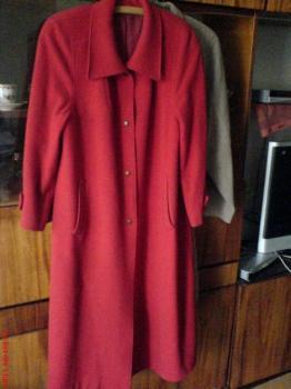 Červený flaušový kabát vel.XL