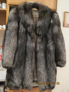 Dámský luxusní kožich pravá kožešina stříbrná liška vel 40