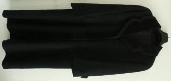 dámský zimní černý dlouhý kabát