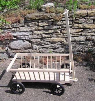 Dřevěný vozík žebřiňák velký, délka 1 m
