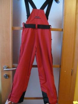 lyžařské kalhoty a bunda, dívčí , červené , zánovní