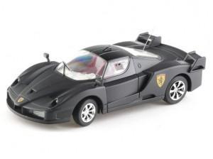 Mini RC auto Ferrari černé, kovové, měřítko 1:43 rtr