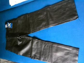 Motorkářské pánské kožené kalhoty