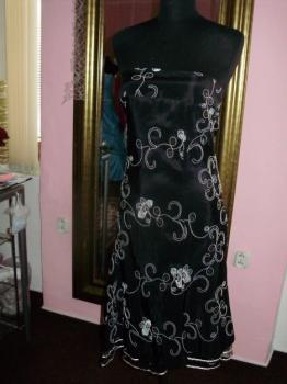 Prodám černé taftové šaty