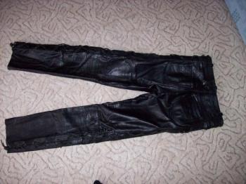 prodám kožené kalhoty