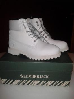 Stylové dámské boty Lumberjack-celokoženéé