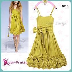 Zelenožluté lemované šaty